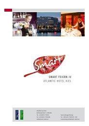 SMART FEIERN iM ATLANTiC HoTeL KieL - ATLANTIC Hotels