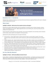 Newsletter Vol 11 Spotlight - Softengine Inc.