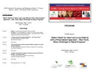 "PROGRAM ""Better Health for Heart and Lung Patients with a ..."