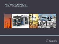 AGM Presentation 2013 - ITM Power