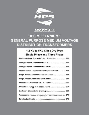 Section 11: General Purpose Medium Voltage Transformers