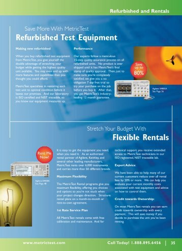 Refurbished and Rentals - MetricTest
