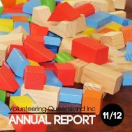 ANNUAL REPORT - Volunteering Qld