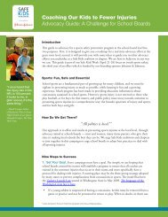 Coaching Our Kids to Fewer Injuries Advocacy Guide - Safe Kids ...