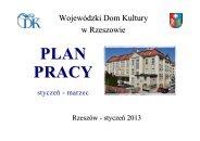 PLAN PRACY NA I KWARTAŁ 2013 - Wojewódzki Dom Kultury w ...