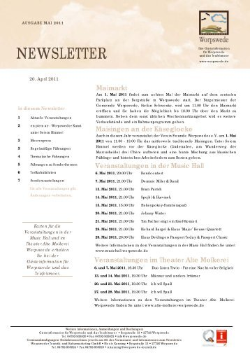 Newsletter Mai 2011 - Worpswede