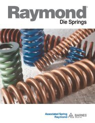 Selecting Die Springs