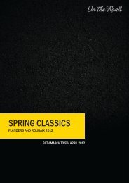 SPRING CLASSICS - On The Road Cycling Tours