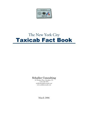 The New York City Taxicab Fact Book - Schaller Consulting