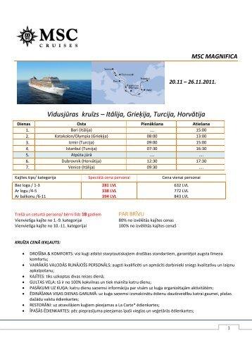 Vidusjūras kruīzs – Itālija, Grieķija, Turcija, Horvātija - Kaleva Travel