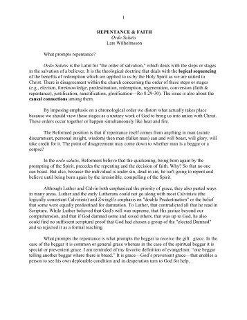 Repentance & Faith - Vital Christianity