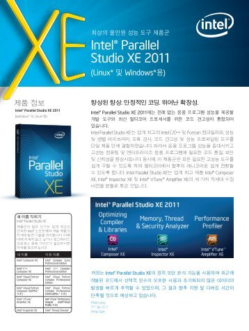 Intel® Parallel Studio XE 2011 - XLsoft Corporation