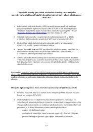 Tématické okruhy pro státní závěrečné zkoušky v navazujícím ...