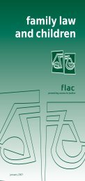 FAMILY LAW AND CHILDREN - FLAC