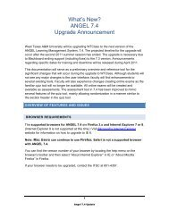 ANGEL 7.4 Upgrade Announcement - Faculty Support Portal - West ...
