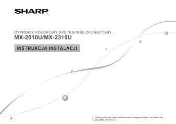 sharp mx 3100n service manual