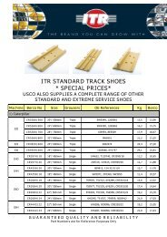 itr standard track shoes * special prices* usco also ... - VR Trading