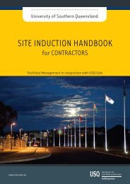 SITE INDUCTION HANDBOOK - University of Southern Queensland