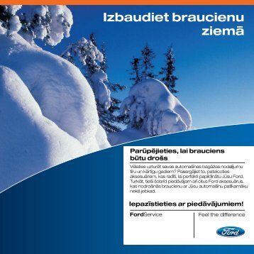 Izbaudiet braucienu ziemā - Ford