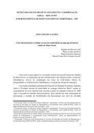 Crise internacional rotatividade no emprego - seplan / mt