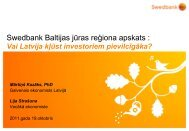This is the title slide where you write the name of the ... - Swedbank