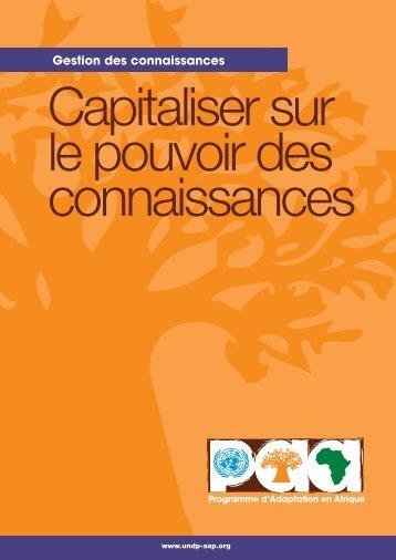 Capitaliser sur le pouvoir des connaissances haute-rés.pdf - Africa ...