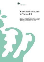 Chemical Substances in Tattoo Ink - Miljøstyrelsen