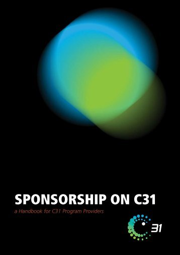 Sponsorship and Advertorial Handbook - Channel 31