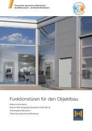 Funktionstüren für den Objektbau - Hörmann KG