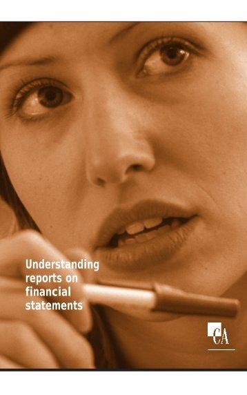 Understanding Reports - Institute of Chartered Accountants of Nova ...