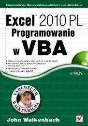 Excel 2010 PL. Programowanie w VBA. Vademecum ... - Structum