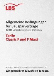 Allgemeine Bedingungen für Bausparverträge Tarife Classic F ... - Lbs