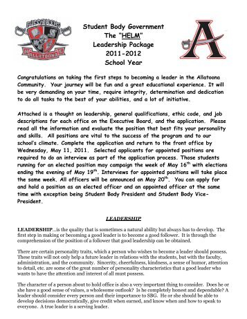 Leadership Package 2011-2012 School Year