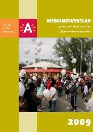 Werkingsverslag 2009 ( pdf ) (1,53 Mb) - Stad Antwerpen