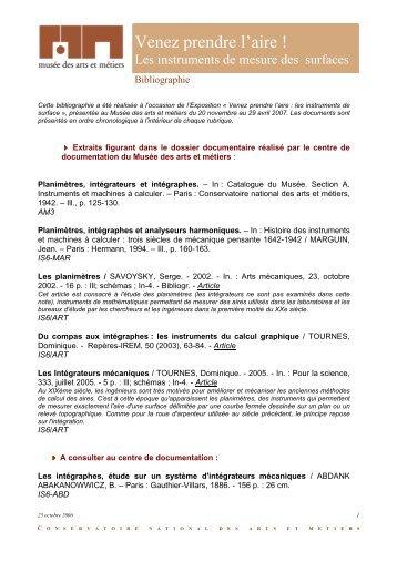 Les instruments d'integration - Musée des arts et métiers