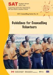 Guidelines for counselling volunteers - Southern African AIDS Trust