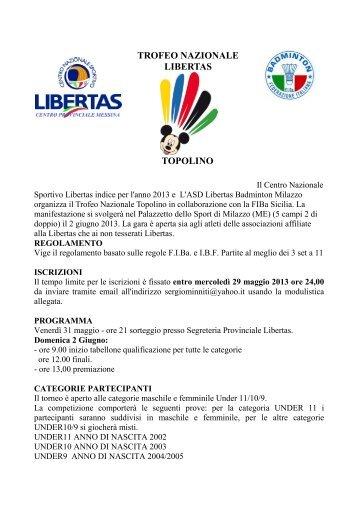Regolamento Trofeo Topolino - Libertas