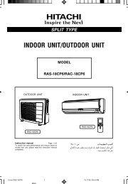 RAS-50YHA1/RAC-50YHA1 - Hitachi Air Conditioning Products