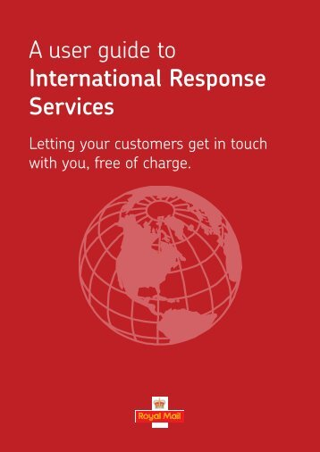 A user guide to International Response Services - Royal Mail