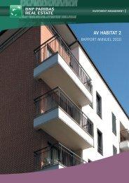 Rapport annuel - AV Habitat 2 - 2010 - BNP Paribas REIM