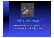 PHYS 270 Lecture 7