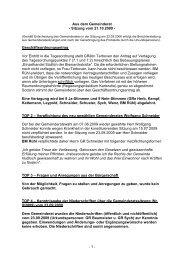 Protokoll vom 21.Oktober.2009 - Nußloch