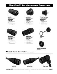 MINI-CON-X® FIELD INSTALLABLE CONNECTORS