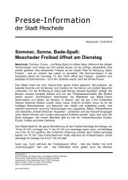Presse-Information - Meschede