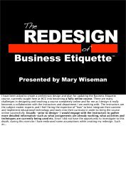 or click here to download my presentation pdf. - Mary Wiseman Design