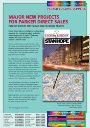 major new projects for parker direct sales - Parker Building Supplies