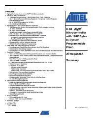 ATMEGA 128a-au 8bit-microcontroller 16mhz 128k-Flash 4kb-EEPROM 2,7v TQFP 64 Atmel