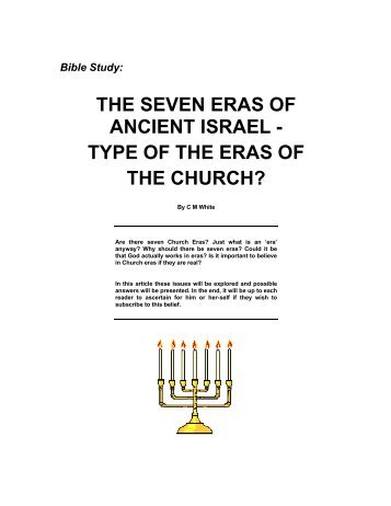 THE SEVEN ERAS OF ANCIENT ISRAEL - TYPE ... - Origin of Nations