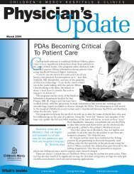 PDAs Becoming Critical To Patient Care - Children's Mercy ...