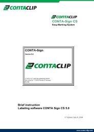 Short Instruction CONTA-Sign 5.0 - CONTA-CLIP